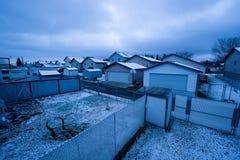 W Zima miastowy Budynki mieszkalne Zdjęcie Royalty Free