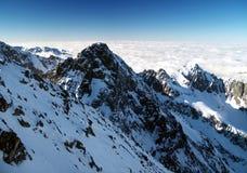 W zima wysokie Tatrzańskie góry Obraz Stock