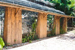 W zoo duży birdcage Zdjęcie Stock