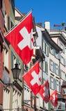 W Zurich stara ulica Obrazy Royalty Free
