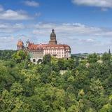WAŁBRZYSKI, POLSKA, LIPIEC - 07, 2016: Grodowy Ksiaz w Wałbrzyskim, wewnątrz Zdjęcia Royalty Free