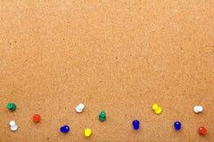Wałkowa deskowa tekstura dla tła i kolorowej szpilki ramy fotografia royalty free