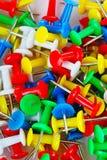 Wałkowy zbliżenie tekstury wzoru tło kolorowe szpilki Kolor żółty, błękitna czerwień, zieleń obrazy royalty free