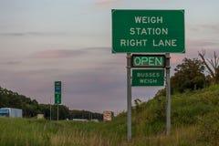 Ważenie staci znak na Międzystanowi 44 w Oklahoma wskazuje s fotografia royalty free