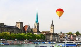 Ważni punkty zwrotni Zurich pejzaż miejski Obrazy Royalty Free