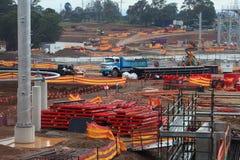 Ważny budowy wody park Obraz Royalty Free