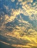 Waży wieczór chmurę Zdjęcia Stock