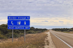 WA Border Village Roadsign Royalty Free Stock Images
