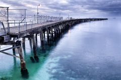 WA Esperance Bended jetty R Royalty Free Stock Images
