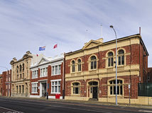 WA Fremantle Street facades Stock Photos
