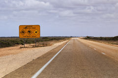 WA Highway Wildlife sign 150 km Royalty Free Stock Image