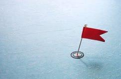 Wałkowa cel czerwona flaga Fotografia Stock