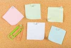 Wałkowa deska, korek deska, tablica informacyjna fotografia royalty free