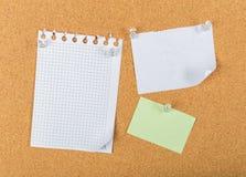 Wałkowa deska, korek deska, tablica informacyjna obrazy royalty free