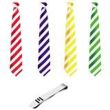 wałkowy ustalony krawat Obrazy Stock