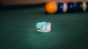 Ważna rzecz na basenu stole Fotografia Stock