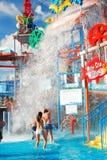 Ważny Splashdown przy Waterpark Zdjęcia Royalty Free