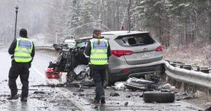 Ważny wypadek samochodowy zbiory wideo