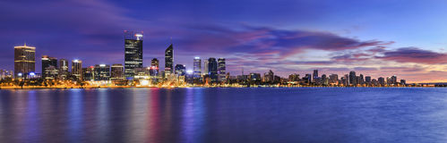 WA PERTH River Rise 3 panorama Royalty Free Stock Photography