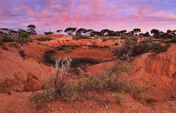 WA Red Outback Panorama Stock Photo