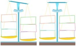 Waży dla infographics Obrazy Stock