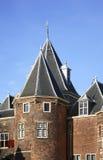 Waag (pese a casa) em Nieuwmarkt em Amsterdão netherlands fotos de stock