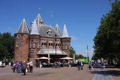 Waag Square in Amsterdam Royalty Free Stock Photo