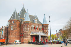 The Waag (Weigh house) in Amsterdam Royalty Free Stock Photos