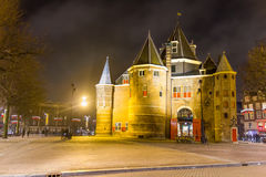 The Waag (weigh house) in Nieuwmarkt square, Amsterdam, The Netherlands Stock Images