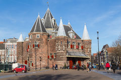 The Waag (Weigh House) in Amsterdam Royalty Free Stock Photo