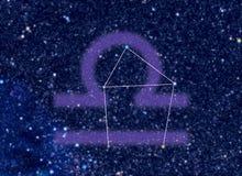 Waage-Tierkreiskonstellation lizenzfreie abbildung