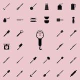 Waageikone Ausführlicher Satz der Küche bearbeitet Ikonen Erstklassiges Qualitätsgrafikdesignzeichen Eine der Sammlungsikonen für vektor abbildung