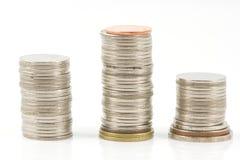 Waagerecht ausgerichtete Münze Lizenzfreie Stockfotos