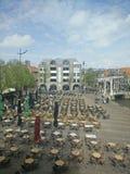 Waagplein Alkmaar. Picture of the Waagplein in Alkmaar, the Netherlands stock images