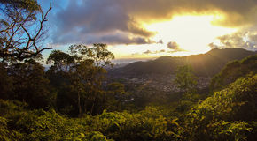 Waahila ridge trail in Honolulu, Hawaii Royalty Free Stock Images