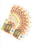 waaier van Euro Bankbiljetten Royalty-vrije Stock Foto