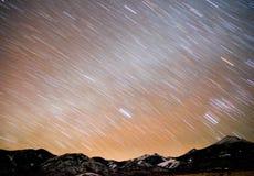 Waaier van Graham Peak Night Sky Mountain van Bonneville de Zoute Vlakten royalty-vrije stock afbeelding
