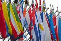Waaier van nationale vlaggen Stock Foto