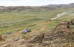 Waaier van steenbergen in zuidelijk van Mongolië royalty-vrije stock afbeeldingen