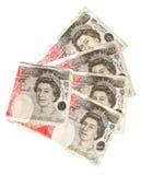 Waaier van vijftig pond Royalty-vrije Stock Foto's