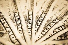 Waaiervormig geld Royalty-vrije Stock Afbeelding