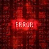 Waakzaam het berichtconcept van de foutenmassage Fouten digitaal rapport Systeem het binnendringen in een beveiligd computersyste Royalty-vrije Stock Foto's