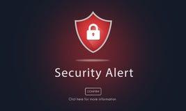 Waakzaam Waarschuwing Beveiligd de Websiteconcept van de waarschuwingsveiligheid vector illustratie