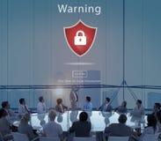 Waakzaam Waarschuwing Beveiligd de Websiteconcept van de waarschuwingsveiligheid royalty-vrije stock foto's