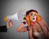 Waakzame clown Royalty-vrije Stock Foto
