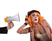 Waakzame clown Stock Fotografie