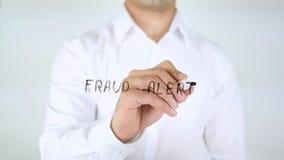 Waakzame fraude, Zakenman Writing op Glas royalty-vrije stock afbeeldingen