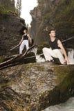 Waakzame zwaardvechters Royalty-vrije Stock Foto