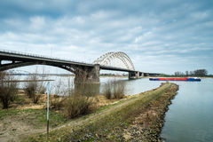 The Waalbrug at Nijmegen Royalty Free Stock Images