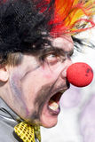 Waanzin de Clown Stock Foto's